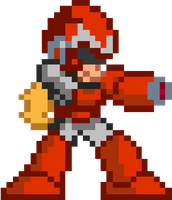 Protoman (megaman x style of sprite) by croatoan18