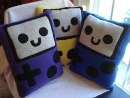 Gameboy Pillows by rosey-so-silly