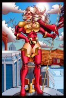 UltraVixen above Meteor City by UltraVixen-The-Comic