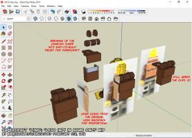 3D LEGO Pirates Imperial Soldiers backpack by ninjatoespapercraft