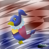 Shiny chatot- Request by pokebulba