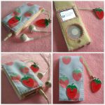 Stawberries + Cream iPod case by Mimi-Mushroom