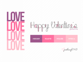 Valentine's Day Palette by JustLaugh143
