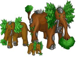 Fakemon Grass Starters by Anararion