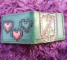Deviant art green, Zelda wallet, back by mooglestiltzkin