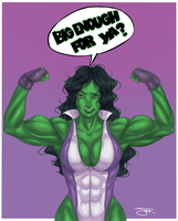 Commission: She-Hulk by ItsJustSuppi