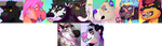 Pixel icons of chars by Choweh