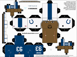 Dwight Freeney Colts Cubee by etchings13