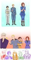 Hetalia doodles 1 by SkiM-ART