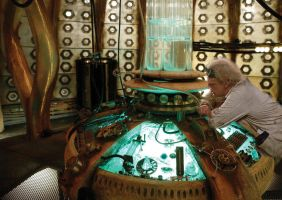 Doc inspecting the Tardis console by DanoKano