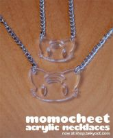 Momocheet Acrylic Necklace by lafhaha
