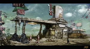 old gas station by Peachlab