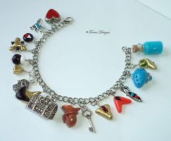 Ocarina of Time Bracelet Zelda HandSculpt Charms by TorresDesigns