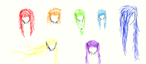 Rainbow Hairstyles by RatherDreary
