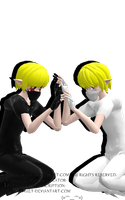 [MMD][DL][RQ]Ben and Link by AlionaLawliet