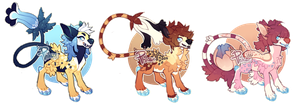 Blue Paw Critters (CLOSED) by PhloxeButt