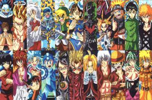 Anime Bookmarks 2014 Fan Art 01 by d13mon-studios