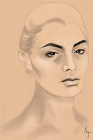 Sketch - Ashley Williams by chignon