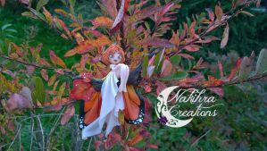 Autumn fairy butterfly polymer clay by Nakihra
