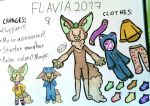 Flavia! Reference sheet 2017 by PikachuSilvia