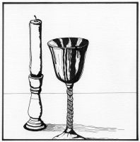 Goblet and Candle Pen 1 by alanahawk