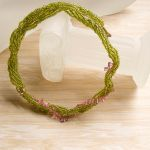 Pink Flowers In Moss Necklace by yoboseiyo