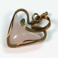Rose Quartz Heart Pendant by innerdiameter