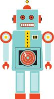 Tin Toy Robot by rhiled