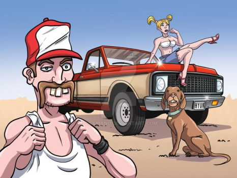 Thrash-Car - New Dog, New wife, New truck by oICEMANo
