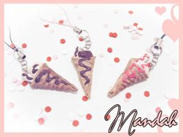 Ice Cream Wrap phone Charms by ForesakenFaerie