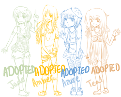 Adoptables Set 1 - Closed by faintlaughter