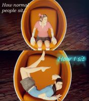 Using a chair normals vs me by BlueWolfFemscout