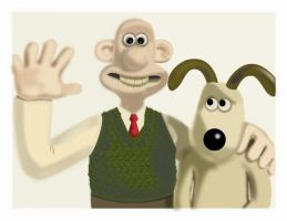 Wallace y Gromit by LloresS