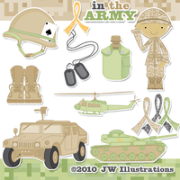 In the Army Clipart by jdDoodles