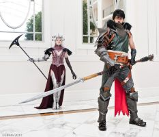 Hawke and Flemeth by teranmx