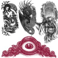Various Tattoo brush set I by noema-13
