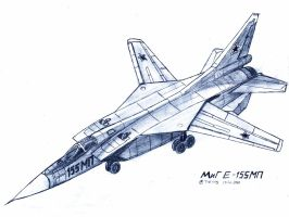 MiG Ye-155MP by TheXHS