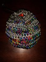 Colorful Chainmaille Dice Bag by lance-boudreaux