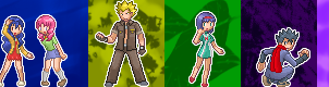 Kanto Leaders sprites by L-mon