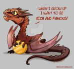 Baby Dragon's Dream - Smaug by AbelPhee