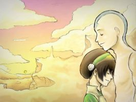 Toph and Aang by 1k7
