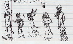 doctor who doodles by demented-Mr-Paulsen