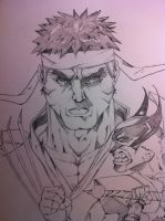 ryu face by Dericules