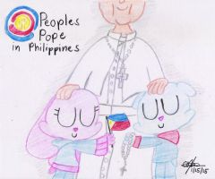 People's Pope in Philippines by murumokirby360