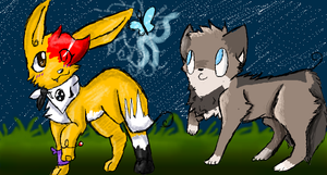 Iscribble-Flash and Blobeh by rinandlin