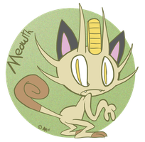Draw Meowth by anniemae04