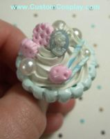 Cameo and cookie cupcake ring by The-Cute-Storm