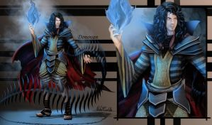 Mage - Donovan - Blue Fire by One-Alucard