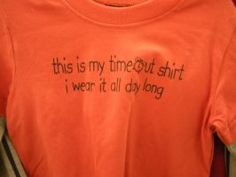 Time Out Shirt by megan-the-Speeddemon
