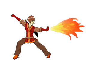 Fire Bender by kungfudemoness
